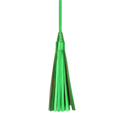 Green Recycled Leather Tassels