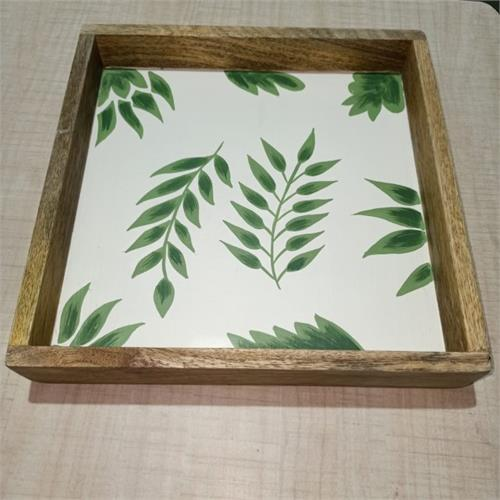 Wooden Square Tray